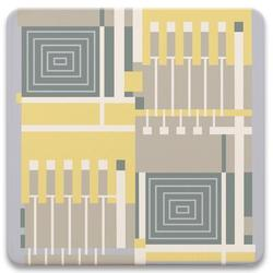 "Latitude Run® Frank Lloyd Wright - Taliesin Line Iv Ceramic Trivet - 7"" Diameter Ceramic, Size 0.25 H x 7.0 D in | Wayfair"