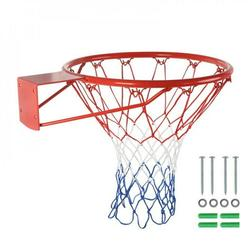 """1PC 18"""" Indoor/Outdoor Basketball Rim Hoop Heavy Duty Basketball Net Replacement - All Weather Anti Whip, Fits Standard Indoor Or Outdoor Rims, 12 Loops"""