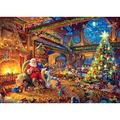1000 Pieces Wooden Jigsaw Puzzles,Beautiful Christmas Puzzle - Every Piece is Unique, Softclick Technology Means Pieces Fit Together Perfectly