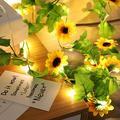 LED String Light, Artificial Sunflower LED String Light Simulation Sunflower Vines String Light 2m 20 LED Fairy Night Light