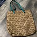 Michael Kors Bags   Michael Kors North - South Tote Bag   Color: Brown/Green   Size: 14 X 12