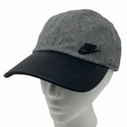 Nike Accessories   Nike Wool Gray Grey Cap Hat W Faux Leather Hat   Color: Black/Gray   Size: Os