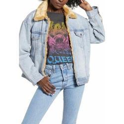 Levi's Jackets & Coats | Levis Oversize Reversible Faux Fur Denim Jacket | Color: Blue | Size: Xs