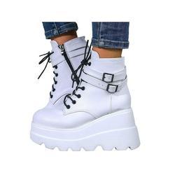Wazshop Womens Shoes Platform Shoes Ankle Boots High Heel Shoes Round Toe Casual Shoes