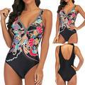 TANGNADE swimsuit women's body skirt swimsuit sexy shade swimwearWomen Plus Size Print Tankini Swimjupmsuit Swimsuit Beachwear Padded Swimwear