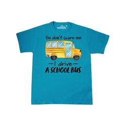 Inktastic You Dont Scare Me- I Drive a School Bus Adult T-Shirt Male