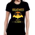 Halloween Orange Bat TShirt - Slim Fitted Women's Soft ECO-Friendly 100% Cotton Fun T-Shirt - Funny Womens Graphic Tees - Funny T Shirts for Women