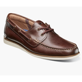 Men's Florsheim Atlantic Moc Toe Boat Shoes Slip On Casual Chocolate 13367-202