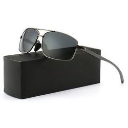 SUNGAIT Ultra Lightweight Rectangular Polarized Sunglasses UV400 Protection 2019 Gunmetal Frame Gray Lens