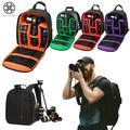 Luxtrada Waterproof Deluxe Camera/Video Padded Backpack for SLR / DSLR Cameras Photographer (Orange)