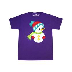 Inktastic Snowman With Hat, Scarf, Gloves, Carrot Nose Adult T-Shirt Male