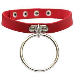 Circle Choker Collar Novelty Punk Choker Necklace Rock Choker for Women & Men
