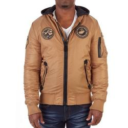 XRAY Mens Patched Flight Jacket With Removable Hood