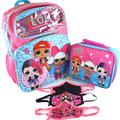LOL Surprise 16 Inch Backpack with Lunch Bag and Goodies Bundle Rock On Pink LOL Backpacks for Girls LOL Remix