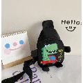 Mini Sling Backpack, Funny Cartoon Dinosaur Print Travel Satchel Shoulder Bag for Boys Girls
