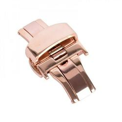 Automatic Double Click Butterfly Buckle Watch Automatic Push Button Fold Deployment Clasp Strap Buckle