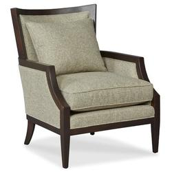 "Fairfield Chair Barton 28.5"" W Armchair Wood in Green/Brown, Size 37.5 H x 28.5 W x 34.0 D in   Wayfair 6017-01_9508 17_FrenchOak"