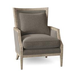 "Fairfield Chair Barton 28.5"" W Armchair Wood in Gray/Black/Brown, Size 37.5 H x 28.5 W x 34.0 D in   Wayfair 6017-01_8794 17_Charcoal"