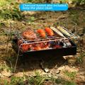 GuangMing Charcoal Grill Camp Grill Mini Grill Folding Campfire Grill Portable Grill Lightweight Steel Mesh Barbecue Grill Camping Grill For Outdoor Camping Coo