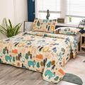 Redwood Rover Bear Quilt Set Twin Size 3Pcs Forest Trees Animals Bedspreads Coverlets Set in Blue/Brown/Green, Size Queen Quilt + 2 Standard Shams