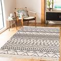 Foundry Select Large Cotton Area Rug 4' X 6' Machine Washable Printed Hand Woven Cotton Throw Rug Floor Carpet Tassel Fringe Area Rugs For Living Room