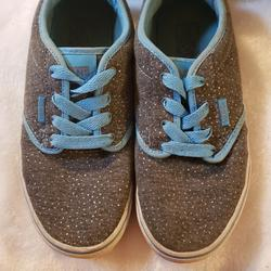 Vans Shoes | Grey And Blue Sparkly Vans | Color: Blue/Gray | Size: 4bb