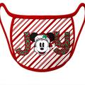 Disney Accessories | Disney Minnie Mouse Christmas Joy Face Mask | Color: Red/White | Size: Large - Fits Most Adults