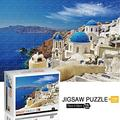 Jeestam Jigsaw Puzzle 1000 Pieces for Adults Kids Floor Puzzle Large Puzzle Family Creative Game Toys Gift Challenging Educational Artwork Collection Puzzle for Teens (Aegean Sea -1000 Pieces)
