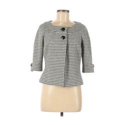 White House Black Market Jacket: Black Houndstooth Jackets & Outerwear - Size 6