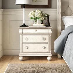 Birch Lane™ Deonte 3 - Drawer Nightstand Wood in White, Size 28.0 H x 28.0 W x 17.0 D in | Wayfair 1AEBA697963C4281A5F77EFF5E662207