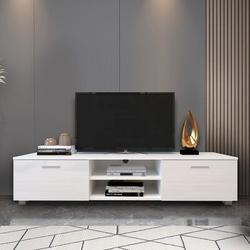 Latitude Run® TV Stand For 70 Inch TV Stands, Media Console Entertainment Center Television Table in White, Size 13.8 H in | Wayfair