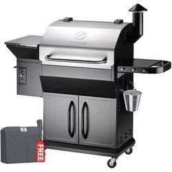 Z Grills Zpg-1000e 2020 Upgrade Wood Pellet Grill & Smoker, 8 In 1 Bbq Grill Auto Temperature Control, 1056, 1000 Sq In Stainless & Black   Wayfair