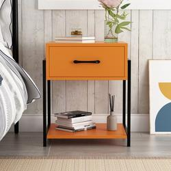 Latitude Run® End Table w/ Storage Wood in Black, Size 20.2 H x 17.1 W x 14.8 D in | Wayfair 9286526AAC384E79B7A3897EB0A135D0