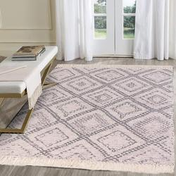 Red Barrel Studio® Large Cotton Area Rug 4' X 6' Machine Washable Printed Hand Woven Cotton Throw Rug Floor Carpet Tassel Fringe Area Rugs For Living Room