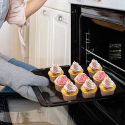 wisdomfurnitureco Aluminum Foil Baking Cups, Disposable Foil Cupcake Cups, Foil Muffin Liners in Gray   Wayfair 2C6QRE08MTMYNWL-01