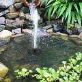 Homgeek 1W Solar Powered Fountain Free Standing Solar DIY Birdbath Fountain Pump Outdoor Water Fountain Panel Kit for Fish Tank Small Pond Garden Patio Lawn Pool