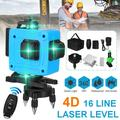 Laser Level Tool Set 16 Line 4D Self Leveling Laser Level Line Adjustable 360 Horizontal Vertical Cross Beam Tool With Tripod, Battery, Remote Control, Anti-fall Carry box
