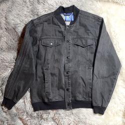 Adidas Jackets & Coats   Mens Adidas Blackgrey Denim Jacket Sz Medium.   Color: Black/Gray   Size: M