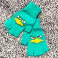 Disney Accessories   Phineas And Ferb Perry Fingerless Gloves   Color: Blue/Green   Size: Adult