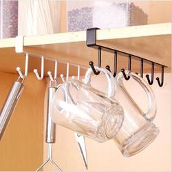 Brrnoo Storage Rack,Multi-functional Kitchen Storage Rack Cupboard Shelf Hanging Hook Wardrobe Organizer Holder,Shelf Hooks