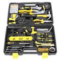 Original 218-Piece Tool Set - General Household Hand Tool Kit with Plastic Toolbox Storage Case-Yellow