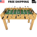 """48"""" Foosball Table, Easy-Assemble Soccer Game Table w/ 2 Balls, Competition Sized Foosball Games for Home, Game Room, Arcade"""