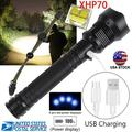 High LM XHP70 LED Zoom USB Rechargeable Flashlight High Bright Torch Super Bright 5 Modes LED Flashlight Zoom Bar Torch