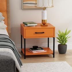 Latitude Run® End Table w/ Storage Wood in Black, Size 17.7 H x 17.7 W x 15.6 D in | Wayfair F7B7151D0FBB44E3B20E0E8EB17B614D