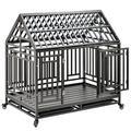 Tucker Murphy™ Pet Heavy Duty Dog Pet Crate Cage w/ Roof in Black, Size 45.2 H x 44.0 W x 29.5 D in | Wayfair 27FDB25ABB054B6B80557CEC83798734