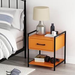Latitude Run® End Table w/ Storage Wood in Black, Size 19.7 H x 17.0 W x 15.7 D in   Wayfair 853562AA83B14B7DA002D2B8087B1AB2