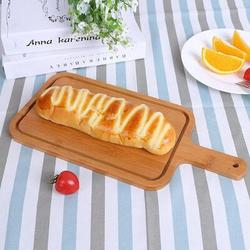 romeidata Wood Pizza Tray Steak Pizza Serving Board Japanese Style Pizza Peel Bread Cheese Appetizer Plate w/ Handle Multi Purpose Fruit Vegetable Cutting Boa Wood