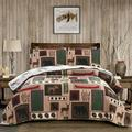 Bay Isle Home™ Reversible Quilt Set Twin Size in Red/Green/Black, Size Twin Quilt + 1 Sham | Wayfair 4E7877A07AD849A19F350D99F585AC87