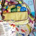 Disney Accessories | Disney Store Inside Out Reverse 4-Way Backpack Bag | Color: Green/Yellow | Size: Os