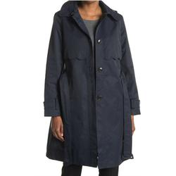 Kate Spade Jackets & Coats | Nwt Kate Spade Navy Scalloped Trim Hooded Trench | Color: Blue | Size: Xl
